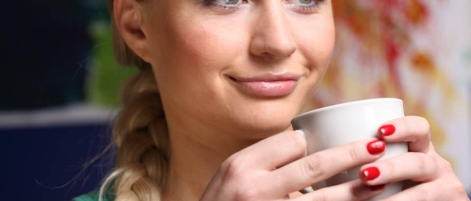 kava, caj, zena, ljepota, lak za nokte