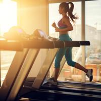 trening, jutro, trčanje, traka, žena
