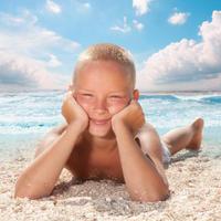 sunce, plaza, ljeto, kupanje, suncanje, dijete, djecak