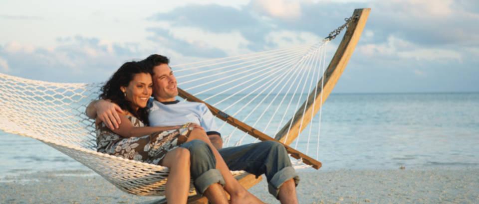 par, plaza, more, mreza za ljuljanje