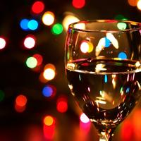 casa, sampanjac, alkohol, nova godina, bozicne lampice, bozic