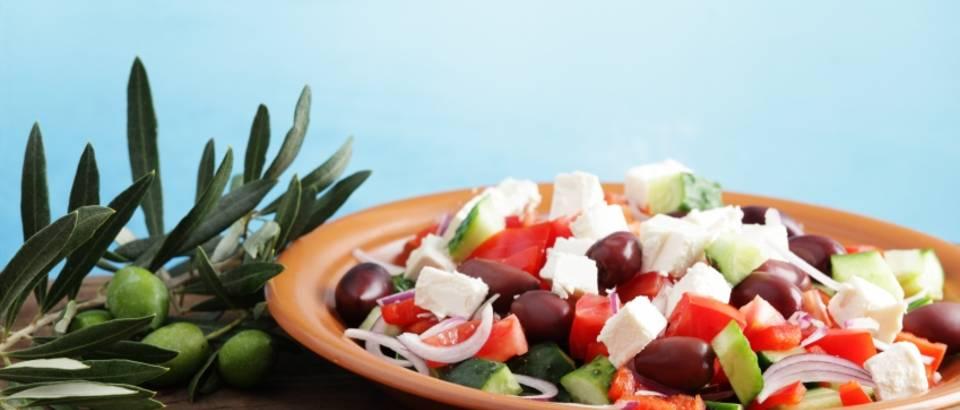 salata, grcka salata, more, masline