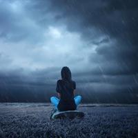 samoca, tmurno nebo, Shutterstock 526901734