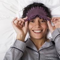 spavanje, maska za spavanje, krevet