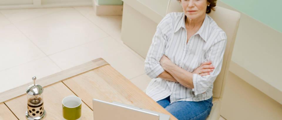 zena, nevjera, laptop