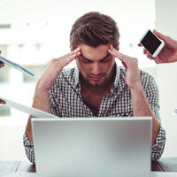 Muškarac stres