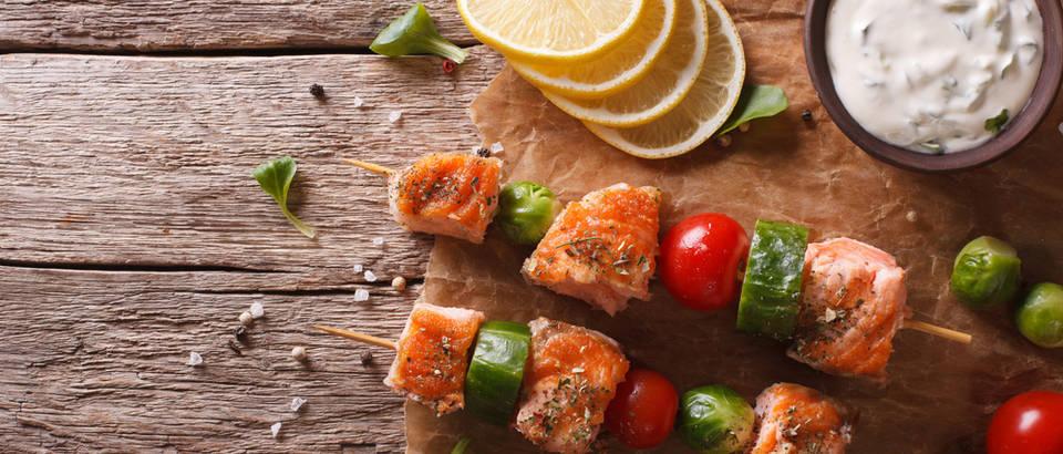 raznjici od lososa, Shutterstock 347992541