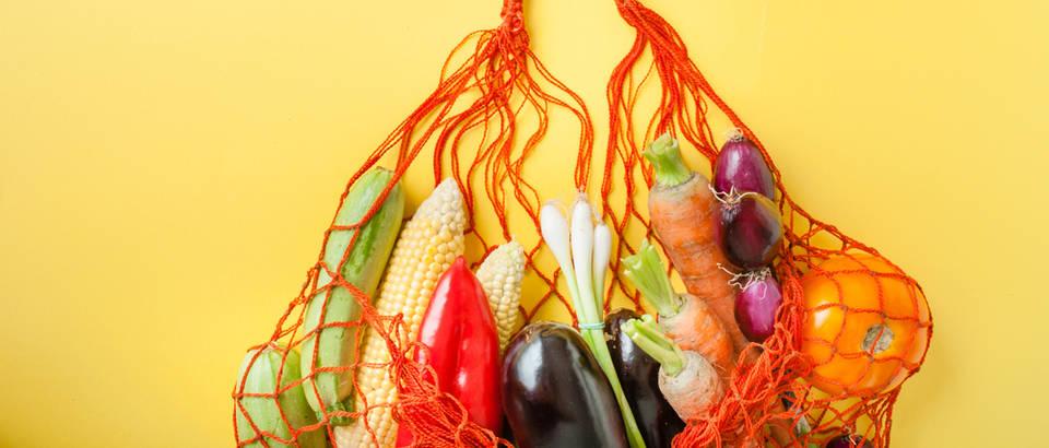 namirnice, voće, povrće, vrećica, višekratna, odvajanje