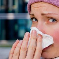 zima, prehlada, nos, brisanje nosa, maramica