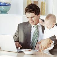posao, beba, multitasking