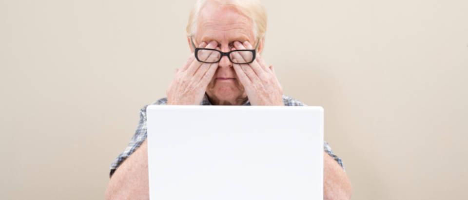 Oci, vid, kompjutor, monitor