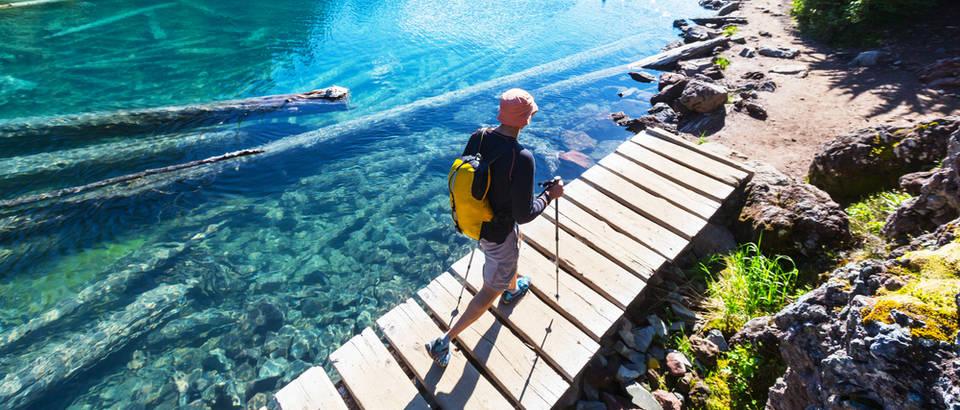 putovanje, drvo u vodi, stapovi za hodanje, Shutterstock 474726103