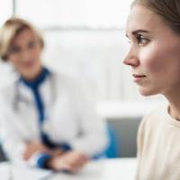 liječnica, pacijent, bolest, pregled
