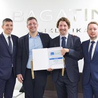 Uprava Poliklinike Bagatin ravnatelj Ognjen Bagatin, dr.Dinko Bagatin, dr.Tomica Bagatin, izvrsni direktor Bojan Pintaric small