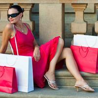soping, crvena haljina