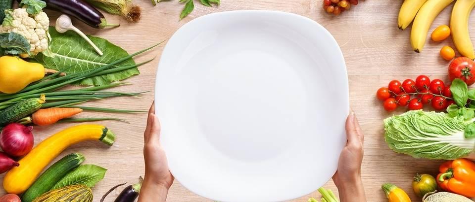 zdravi tanjur, povrce, voce, Shutterstock 375681019