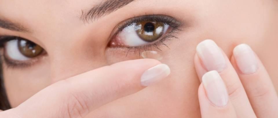 kontaktna leca, oko, vid
