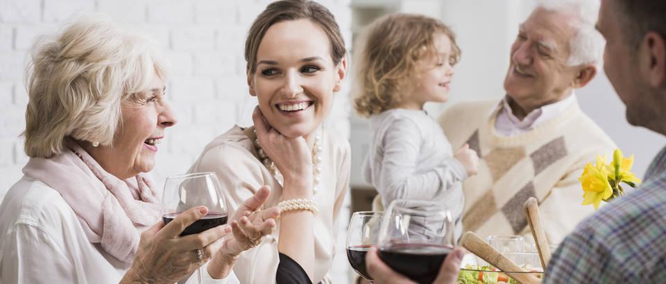 obitelj, blagdani, okupljanje, mama, kćer, ručak