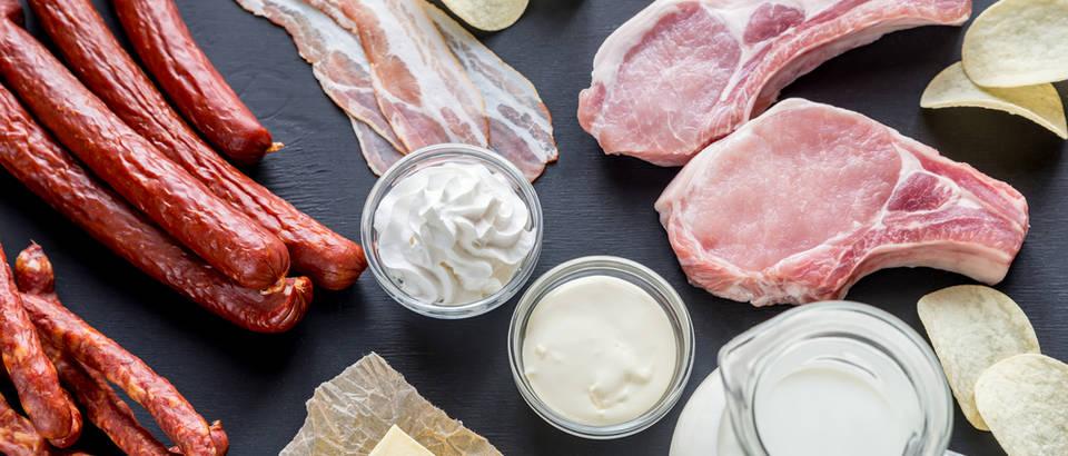 Zasićene masti meso mliječni proizvodi shutterstock 360064298