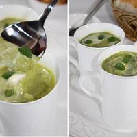 Kremasta juha od graska i metvice