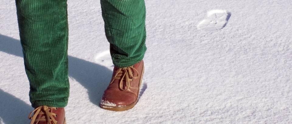Hodanje, snijeg