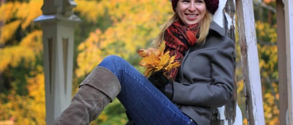 jesen, lisce, lijepa zena, zima