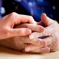 suosjecanje, ruka, ruke, starost, bolest, dodir