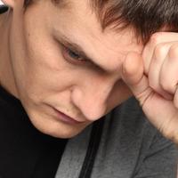 Muskarac, glavobolja, bolest, tuga, depresija