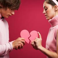 Prekid veze, slomljeno srce, par