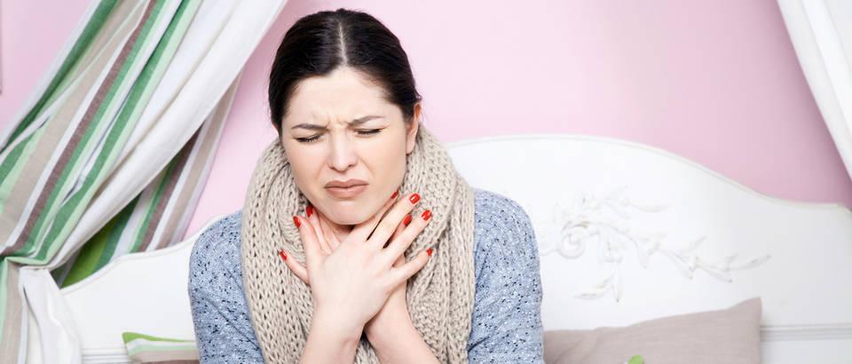 Upala grla prehlada gripa shutterstock 491195431