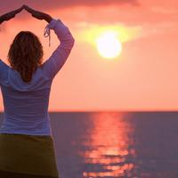 Opustanje, zalazak sunca, meditacija