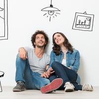 Dvoje par ljubav stanovanje snovi očekivanja mladi sreća shutterstock 206266147